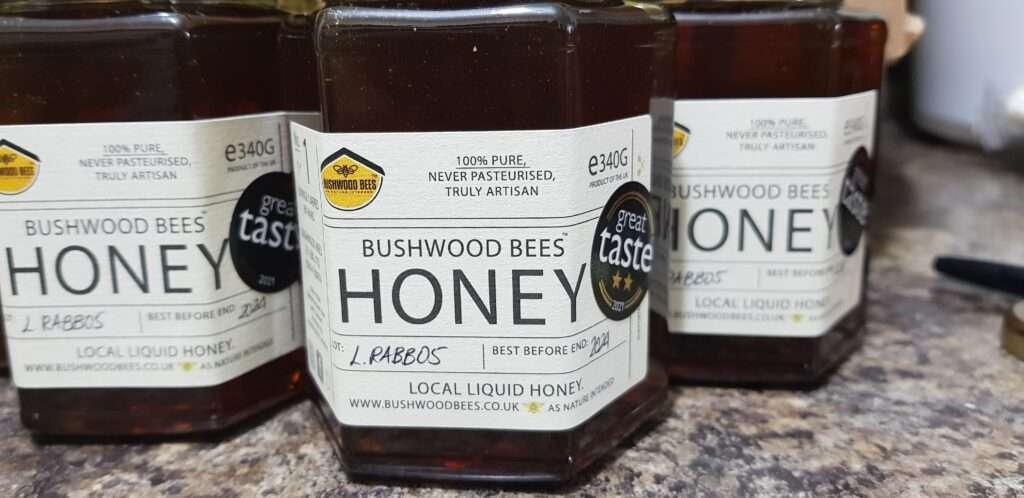 BWB Great Taste Award Dark Honey